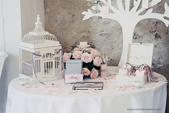 Une urne originale justine huette cr atrice de jolis moments - Plan de table cage oiseau ...