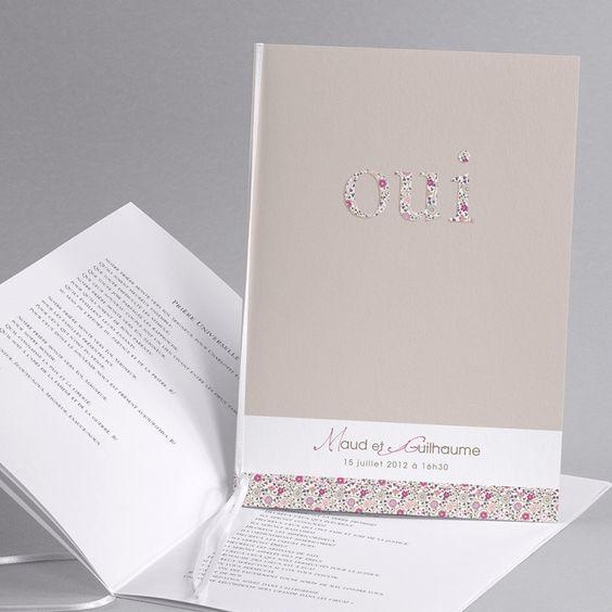 Idée pour un livret de messe original - mariage région parisienne- wedding planner-décoratrice seine et marne-essonne-Paris