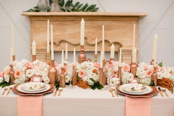 Rose Gold Wedding Ideas For Ceremony Reception Décor: Justine Huette, Créatrice De Jolis