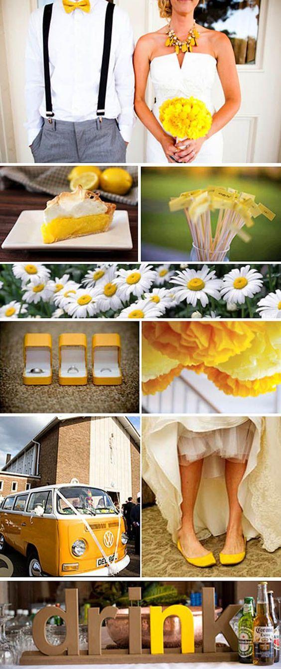 Du jaune pour mon mariage justine huette cr atrice de for Accessoire deco jaune
