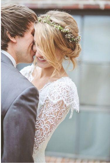 coiffures mariée-couronnes de fleurs - Mariage 77- wedding planner et décoratrice Paris et Seine-et-Marne