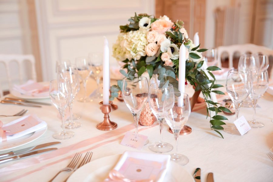 Decoration Table Mariage Rose Gold