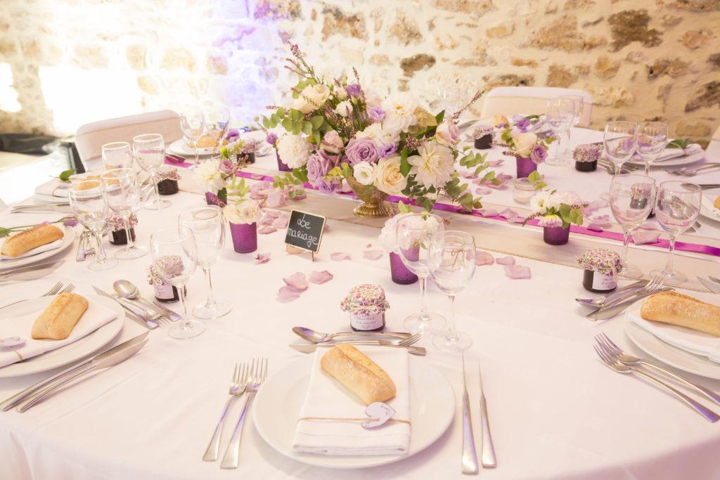 idée de décoration de table mariage